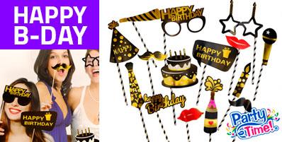 photo props carteles cumpleaños