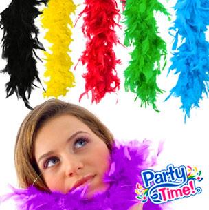Boa de plumas multicolor