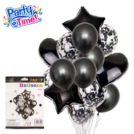 globo 14 piezas negro