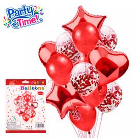 globo 14 piezas rojo