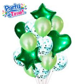 globo 14 piezas verde