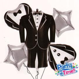 globo foil novio tuxedo