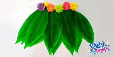 Falda de hojas