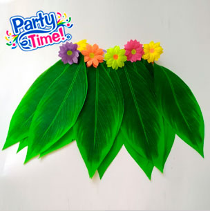 falda hojas con flores