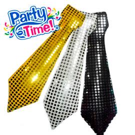 Corbata larga LENTEJUELAS