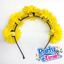 Vincha flores amarillas