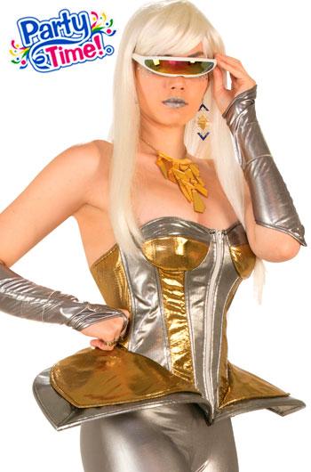 disfraz futurista corset