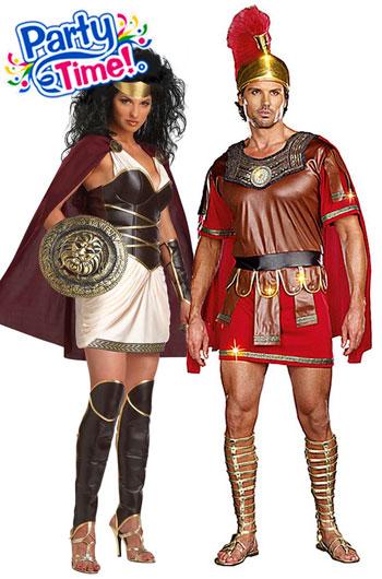 disfraz pareja romanos