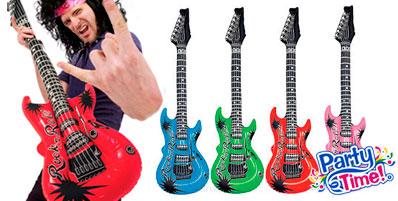 guitarras inflables plastico