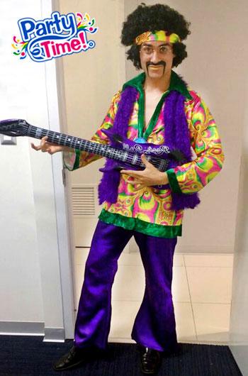 disfraz hippie morado